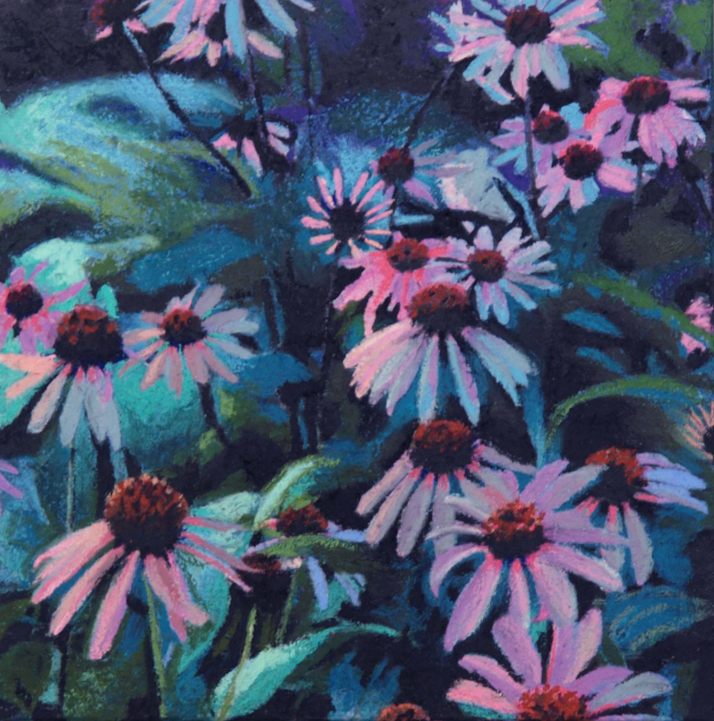 """echinacea lll  12""""x12"""" (sold)"""