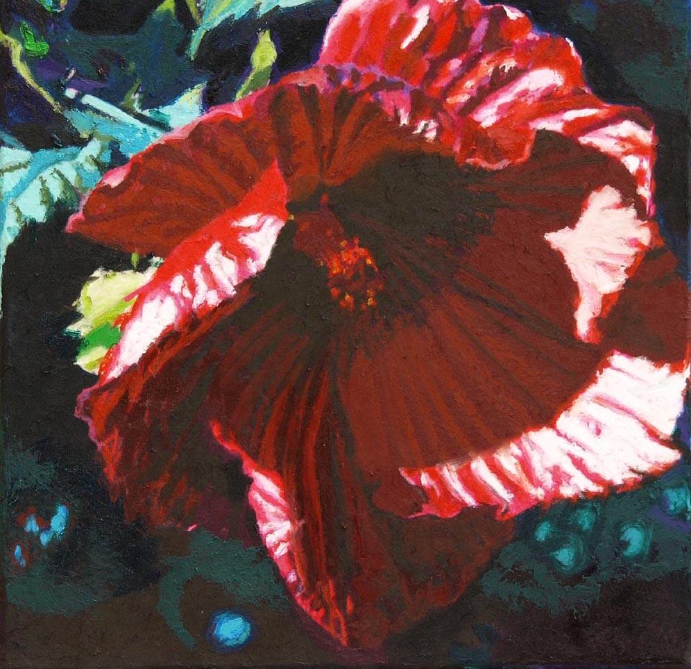 """hibiscus l 12""""x12"""" (sold)"""