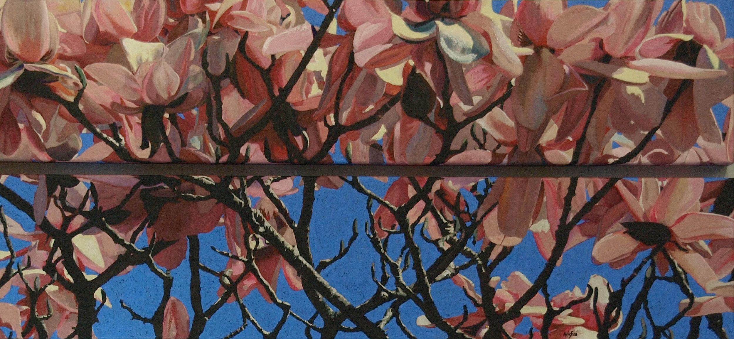 """magnolias  48""""x20"""""""