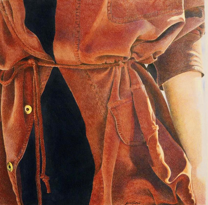 "terracotta Silk  16""x16""  (sold)"