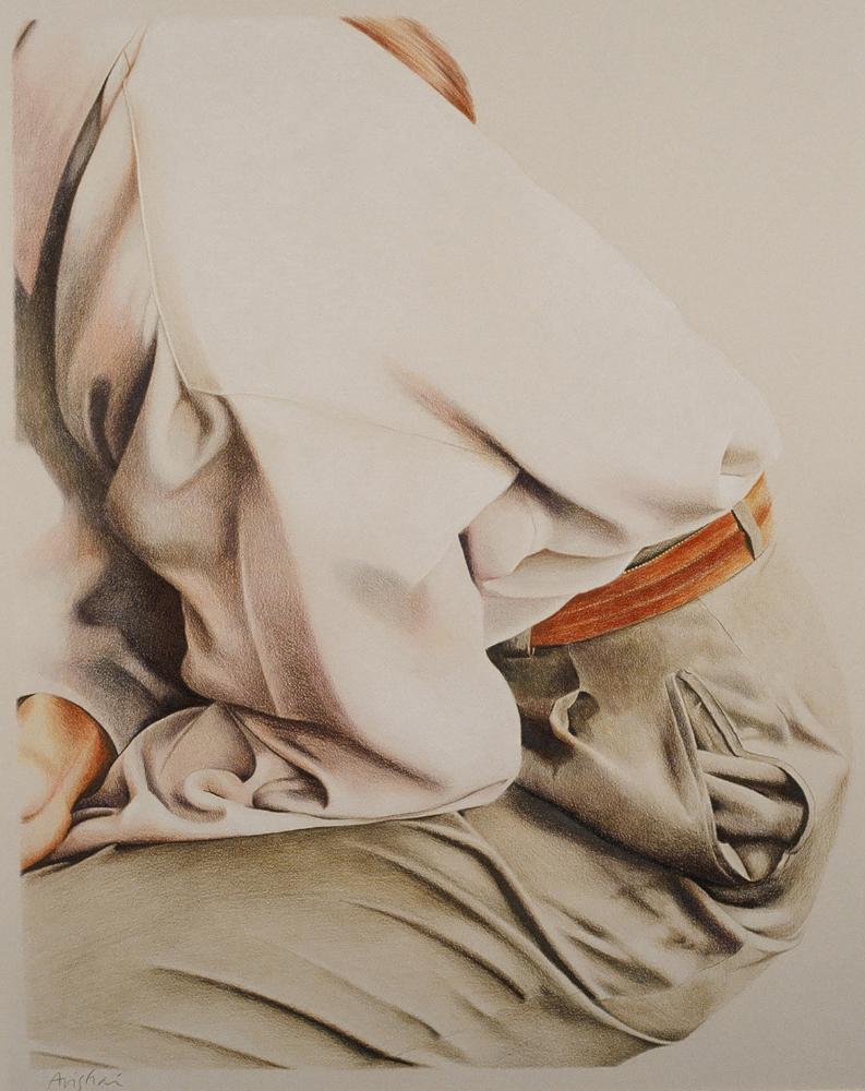 "crouching woman  33""x28""  (sold)"