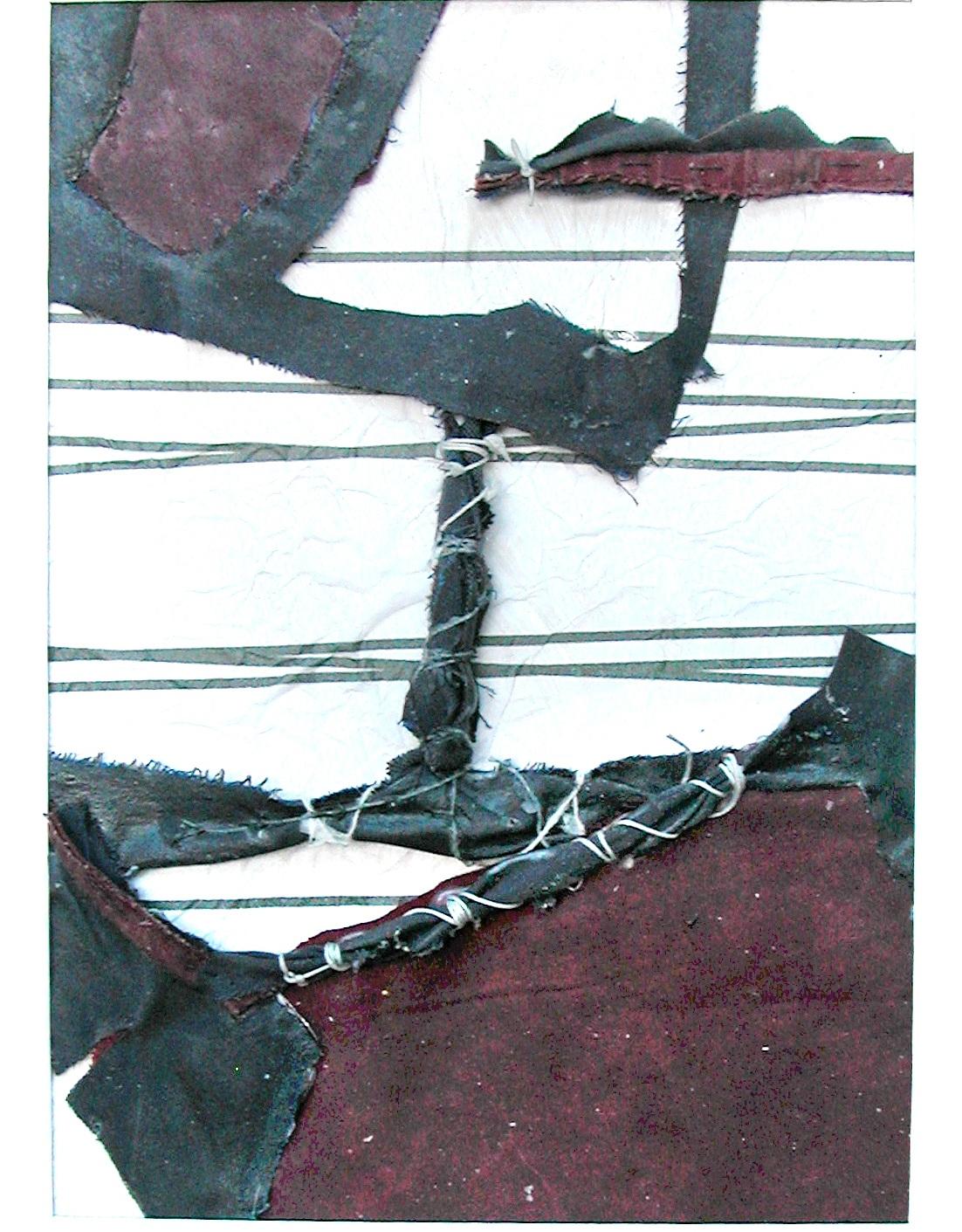 "Outward Bound   11""x9"" framed  mixed fabric  $70"