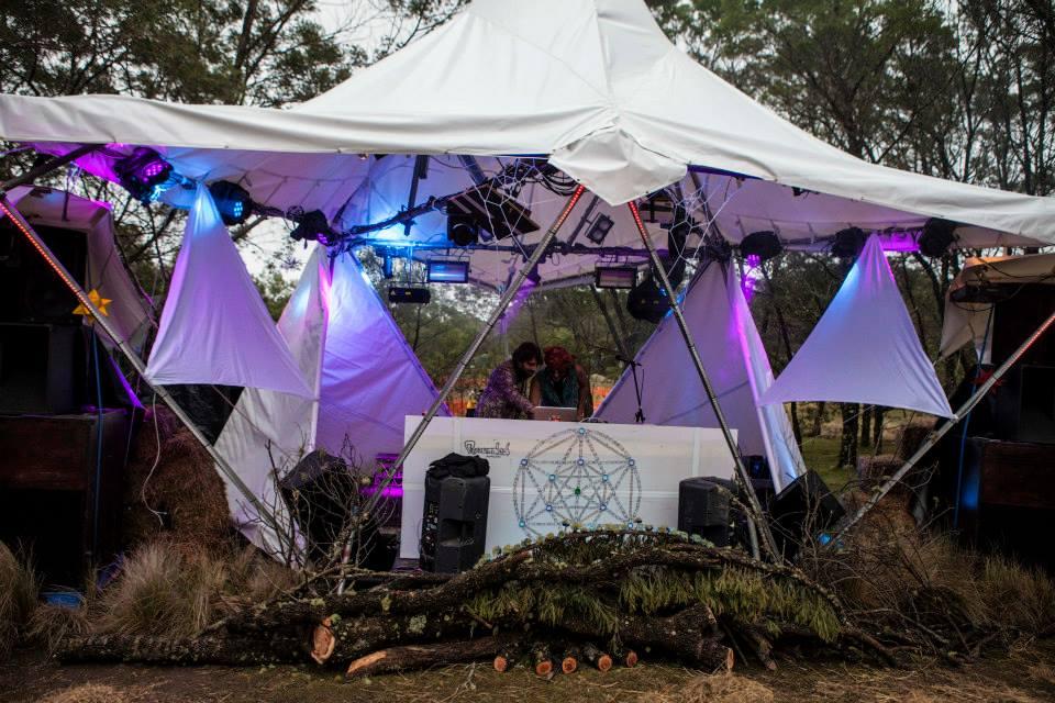 Regrowth Festival Scrub stage design 2013
