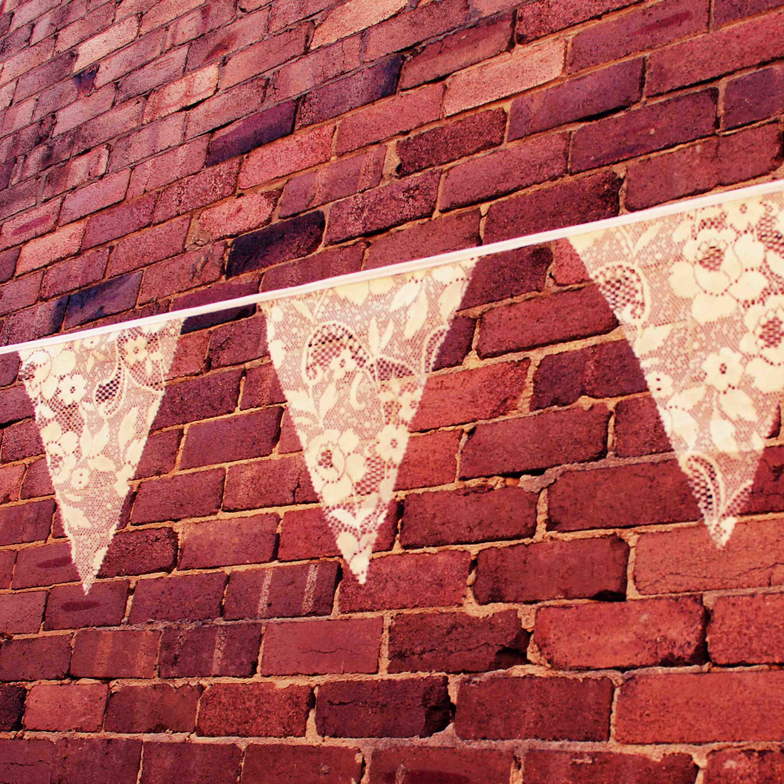 Cream lace bunting
