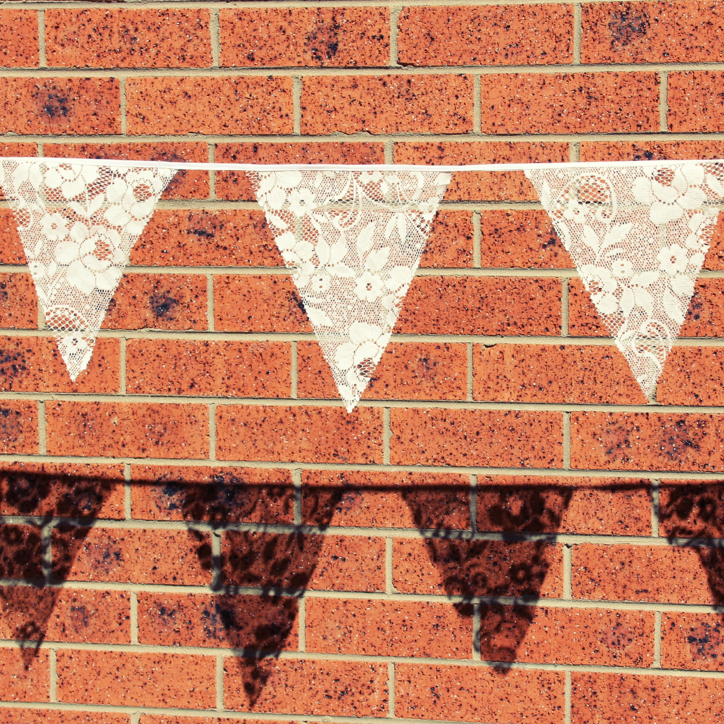 Off-white lace bunting - up to 100m available