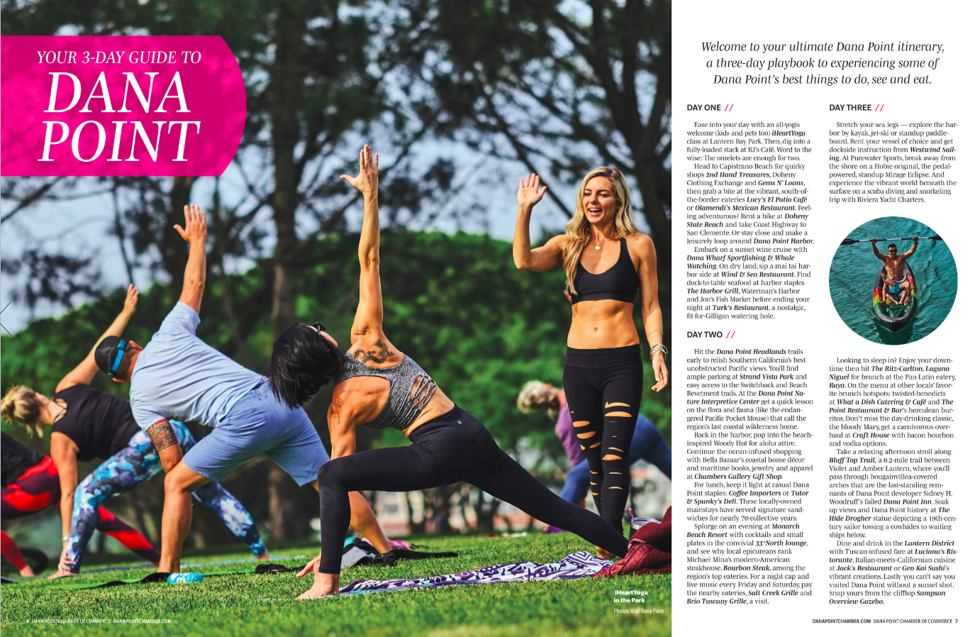 iHeartYoga Featured in Destination Dana Point