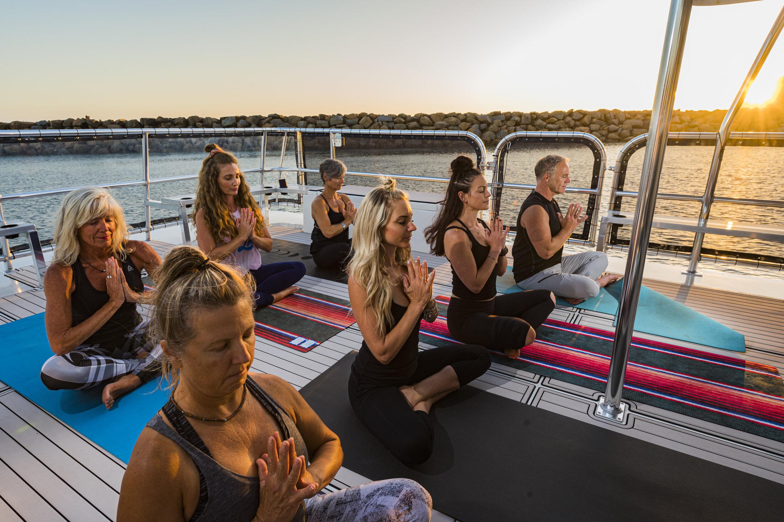YAcht yoga - Dana Wharf and iHeartYoga present Yacht Yoga in Dana Point Harbor