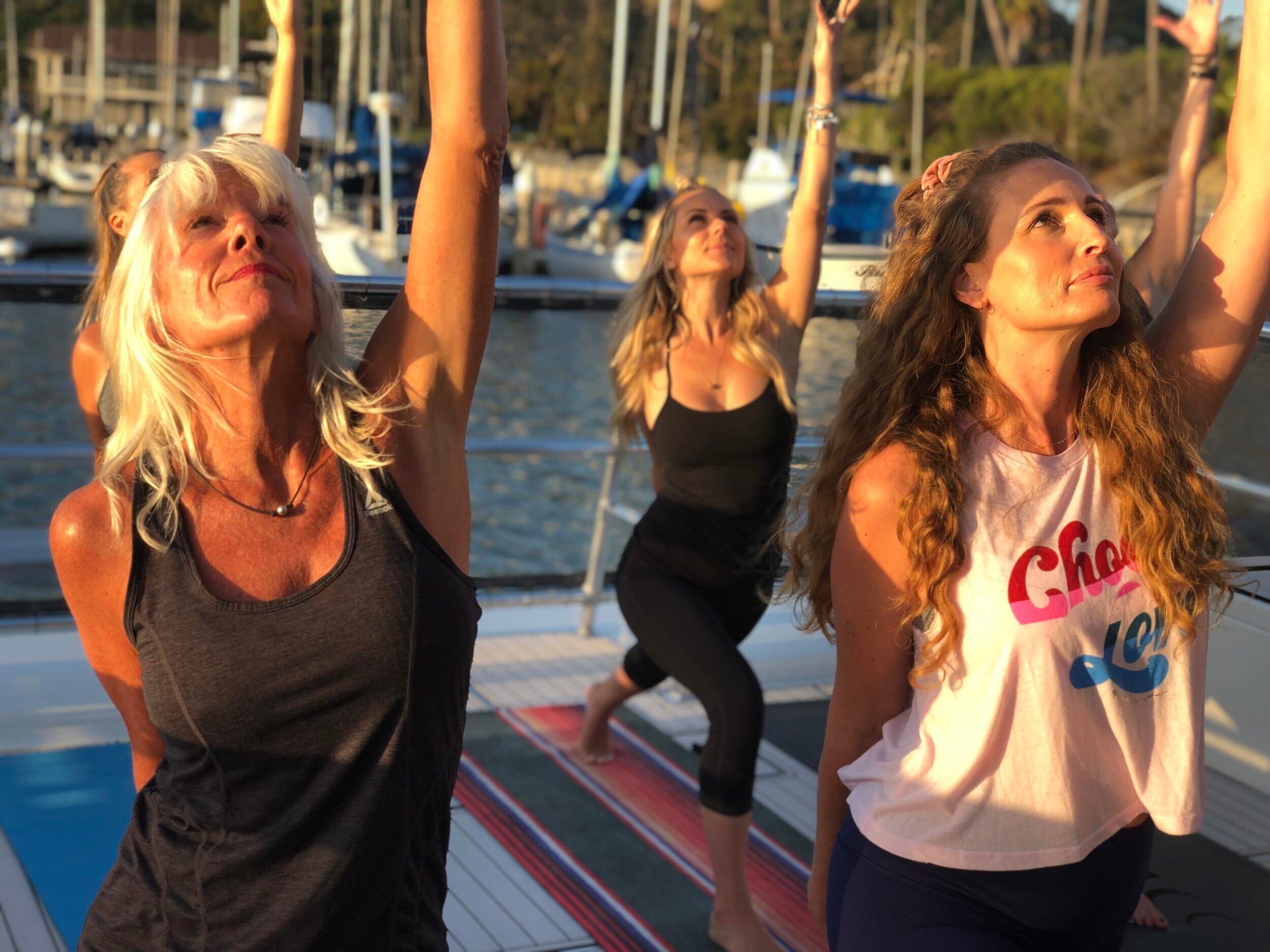 Private Yoga Class on 50ft Catamaran
