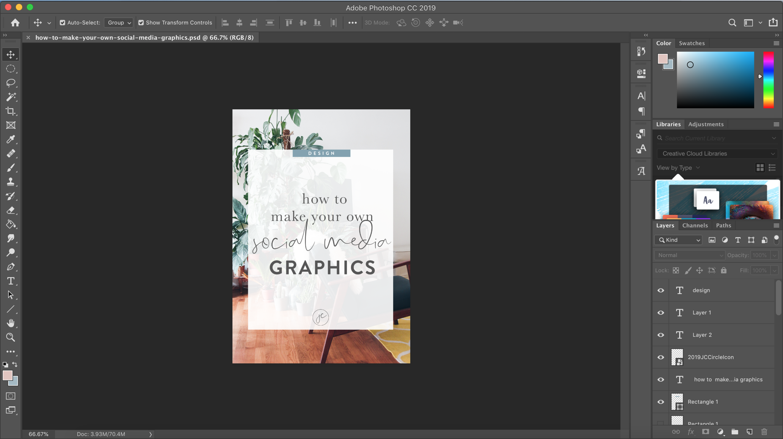 How to Make Your Own Social Media Graphics | Photoshop