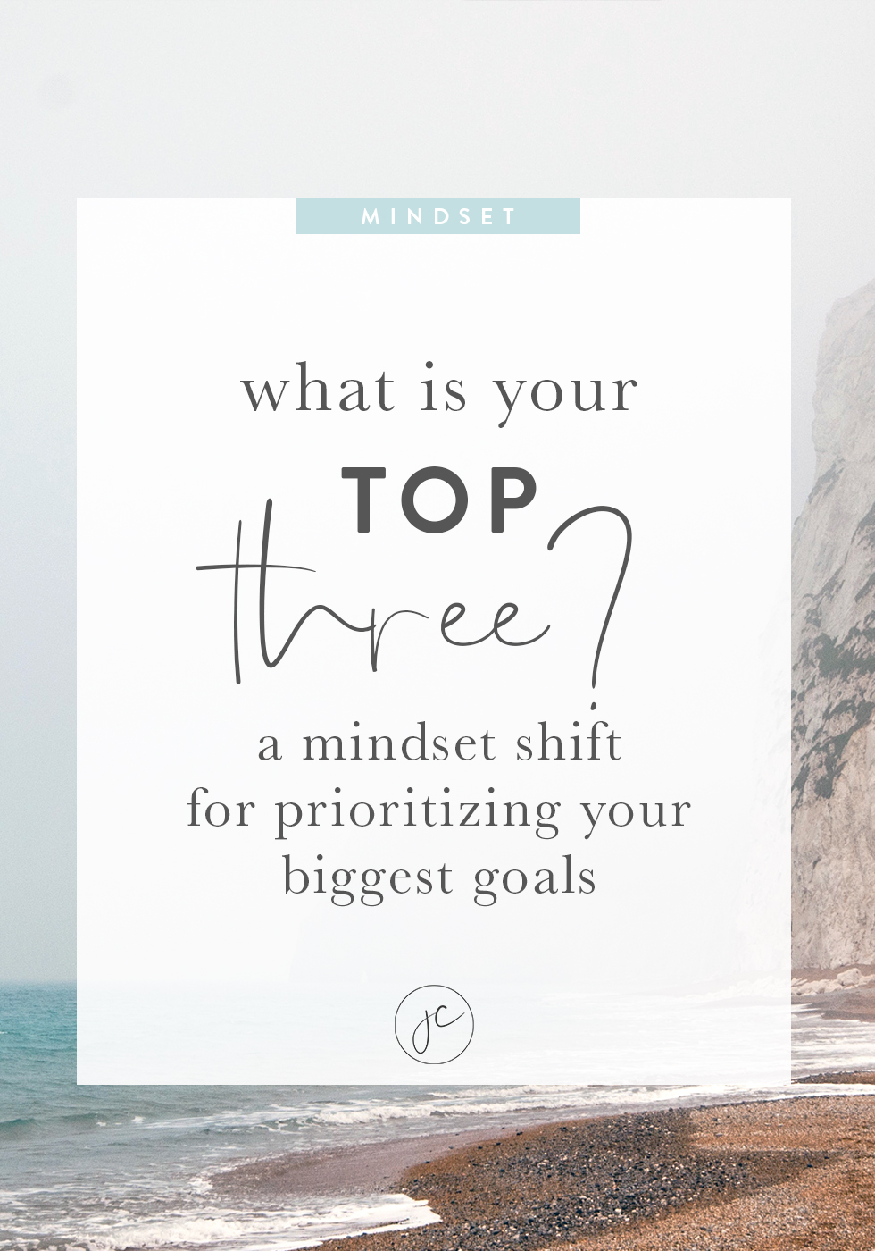 What's Your Top Three? A Mindset Shift for Prioritizing Your Biggest Goals