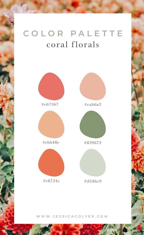 Coral Florals Color Palette