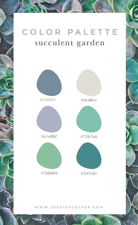Succulent Garden Color Palette