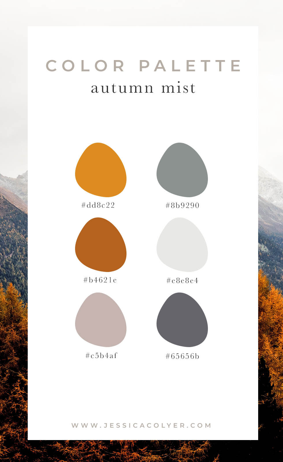 Autumn Mist Color Palette | Jessica Colyer