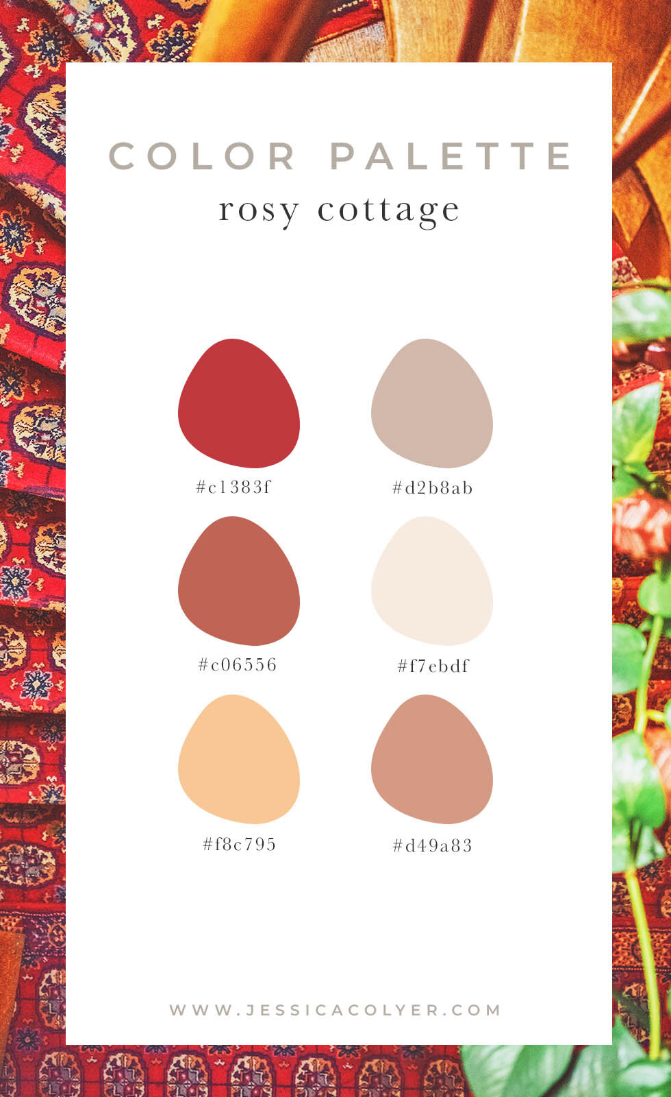 Rosy Cottage Color Palette | Jessica Colyer
