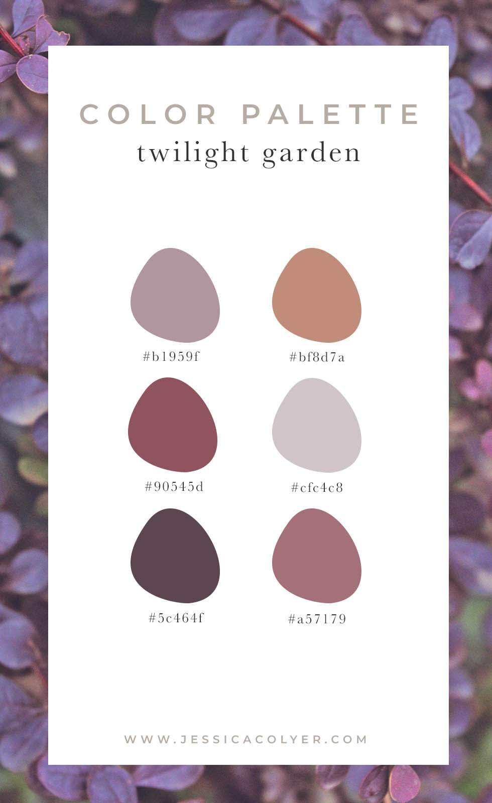 Twilight Garden Color Palette | Jessica Colyer
