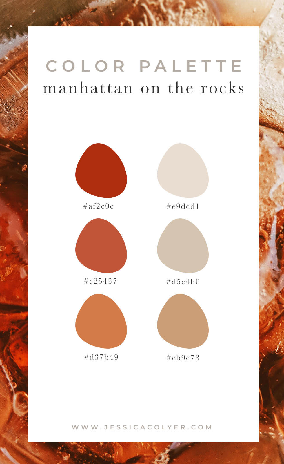 Manhattan On the Rocks Color Palette | Jessica Colyer