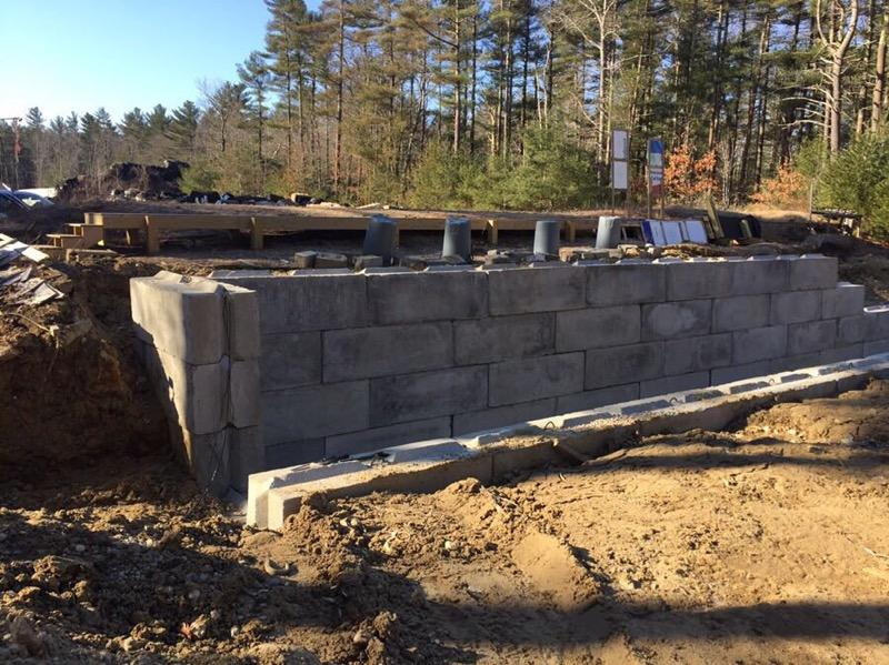 5/4/19: This view shows the forward wall nearly done.