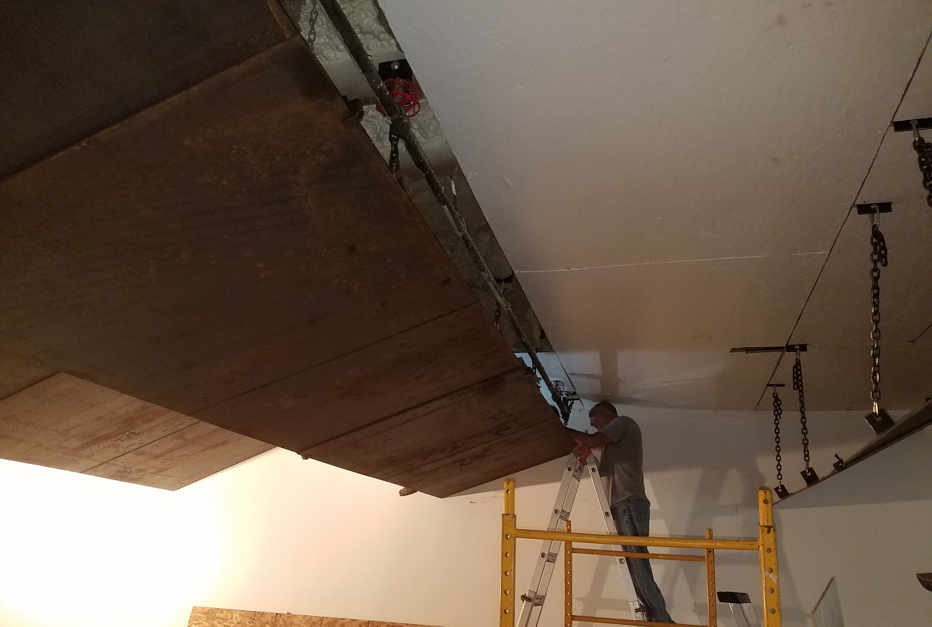 As on the previous work parties the purpose was to reinstall the ceiling.
