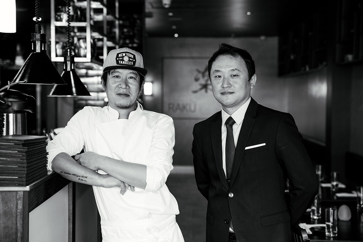 Chef/Owner Seung Ju (Ju) Lee and Owner, John Lee.