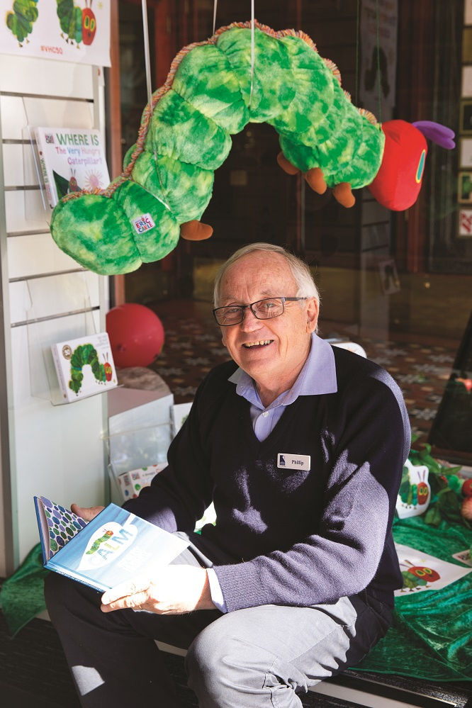 Owner, Phillip Schwebel hanging out with the Hungry Caterpillar.jpg
