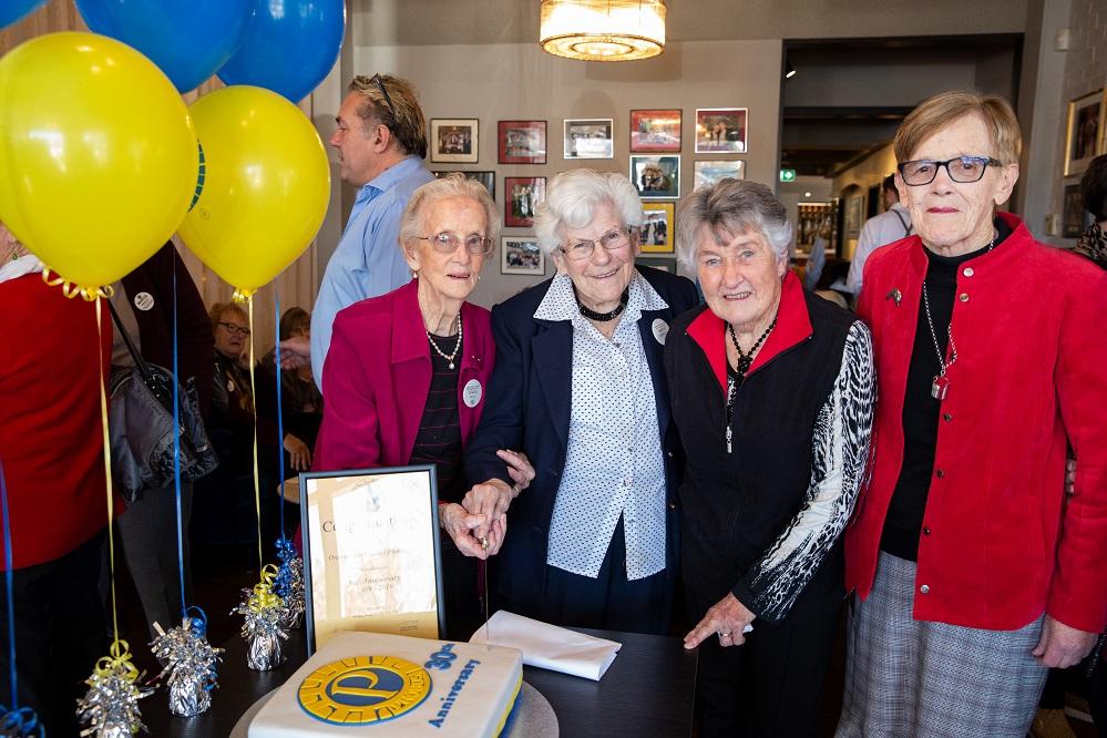 Grace Moad, Marie McMullen, Joyce Onley and Helen James, four original members.jpg