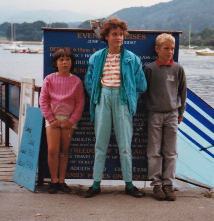 SEEN HERE SEEN HERE WITH MY LITTLE BROTHER & SISTER WHEN WE AUDITIONED FOR 'STRANGER THINGS'. NETFLIX DIDN'T THINK WE WERE 'QUITE' WHAT THEY WERE LOOKING FOR. THEIR LOSS.     I'M THE ONE ROCKING THE HIGH PANTS IN THE CENTER.