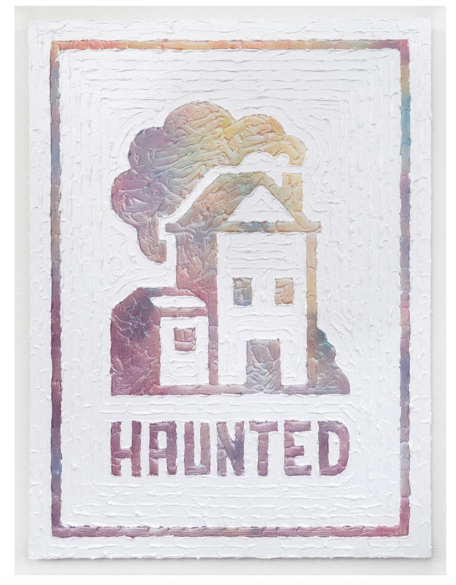 Humble Abode (Haunted)  . Acrylic and enamel on canvas. 2017.