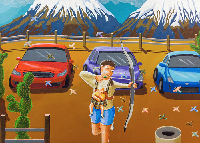 Pit Stop  , Acrylic on Canvas, 2015
