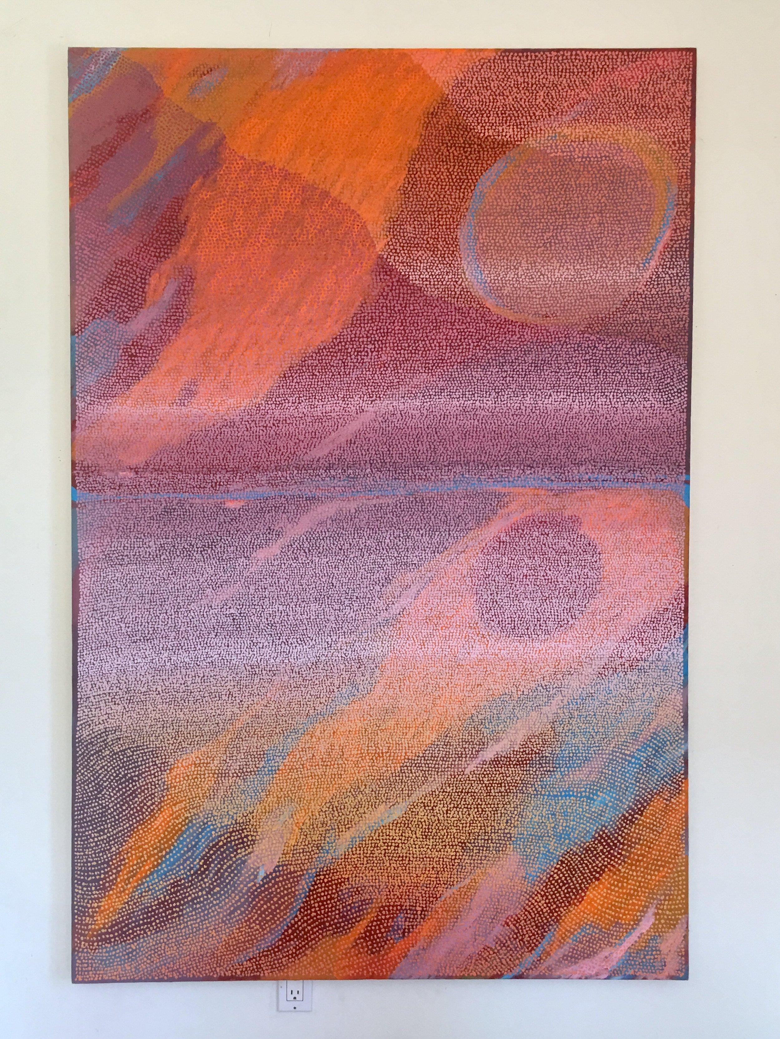 Avalon  , acrylic and pumice on canvas, 2018