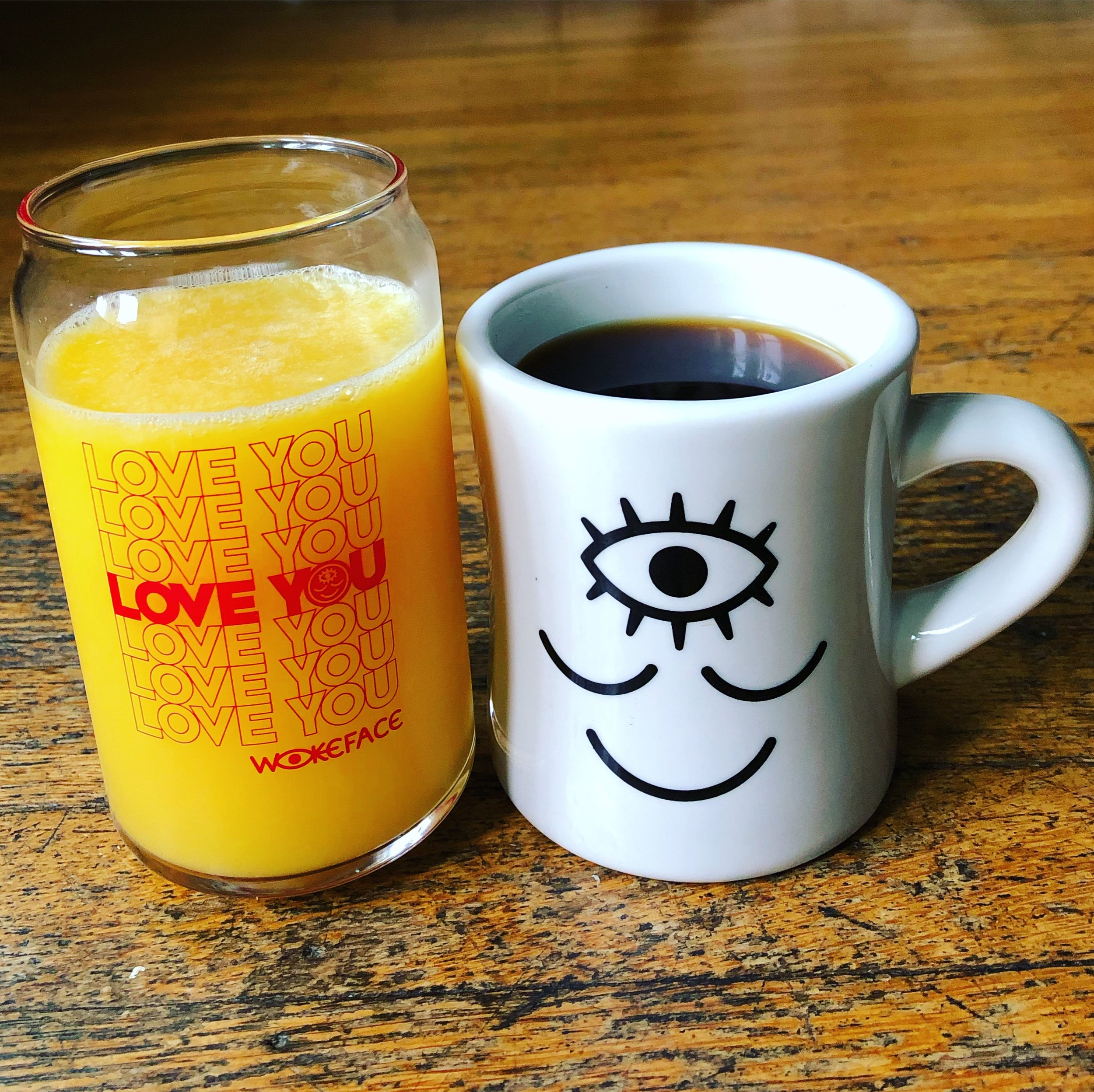 Wokeface Love You Can Glass  &  Diner Mug