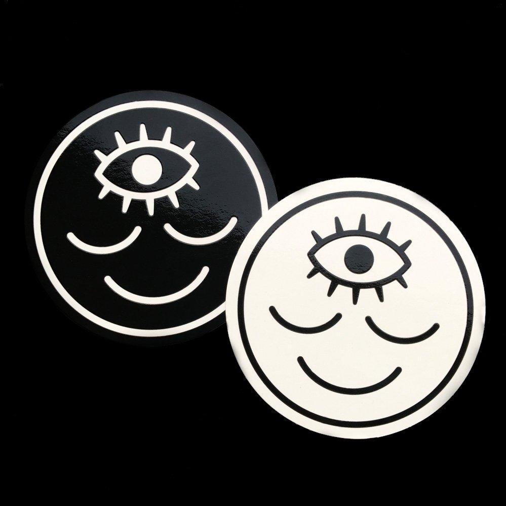Wokeface OG Sticker  , screenprinted vinyl