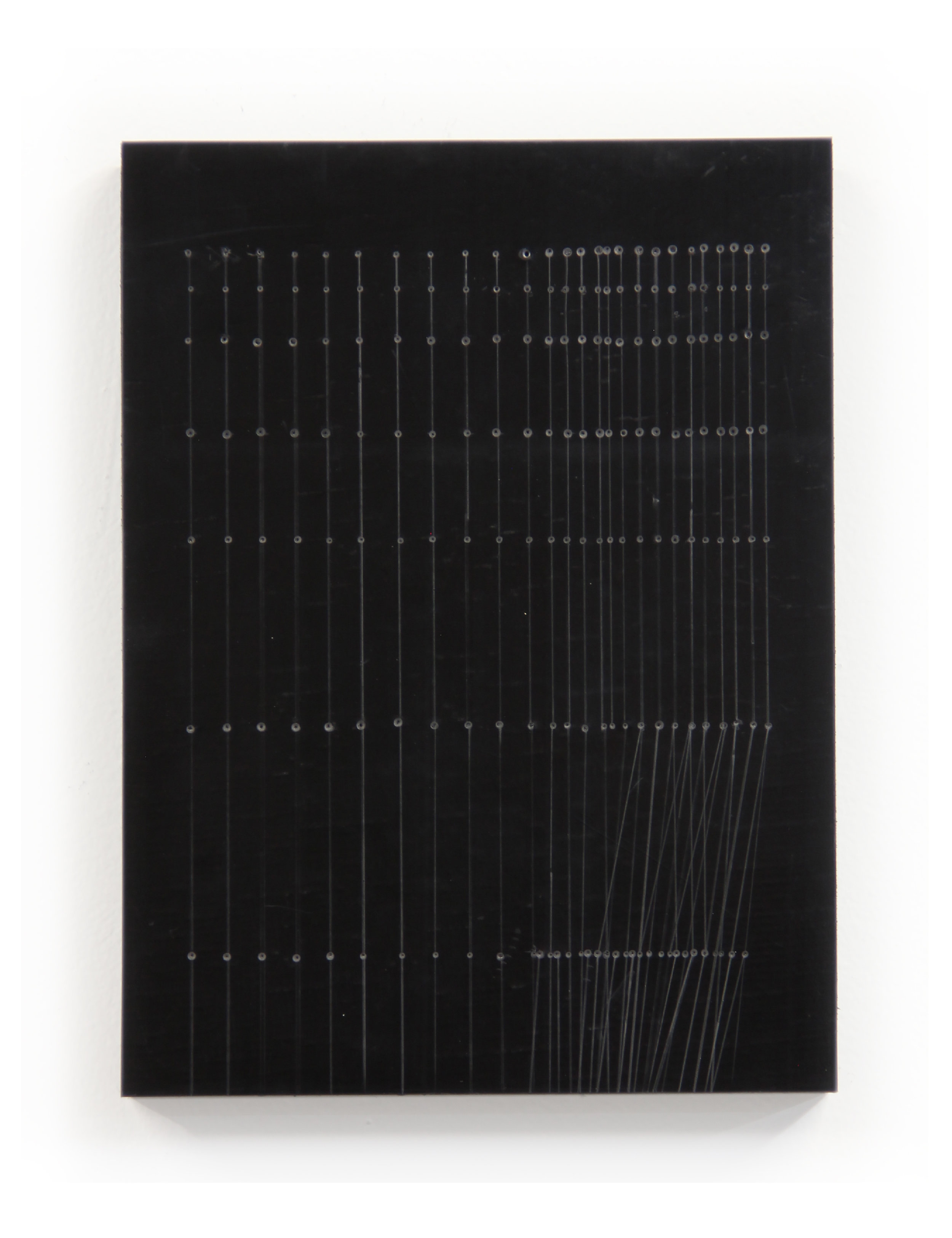 Order and Method No. 9  , Graphite and pencil on Mounted Rubber, 2017