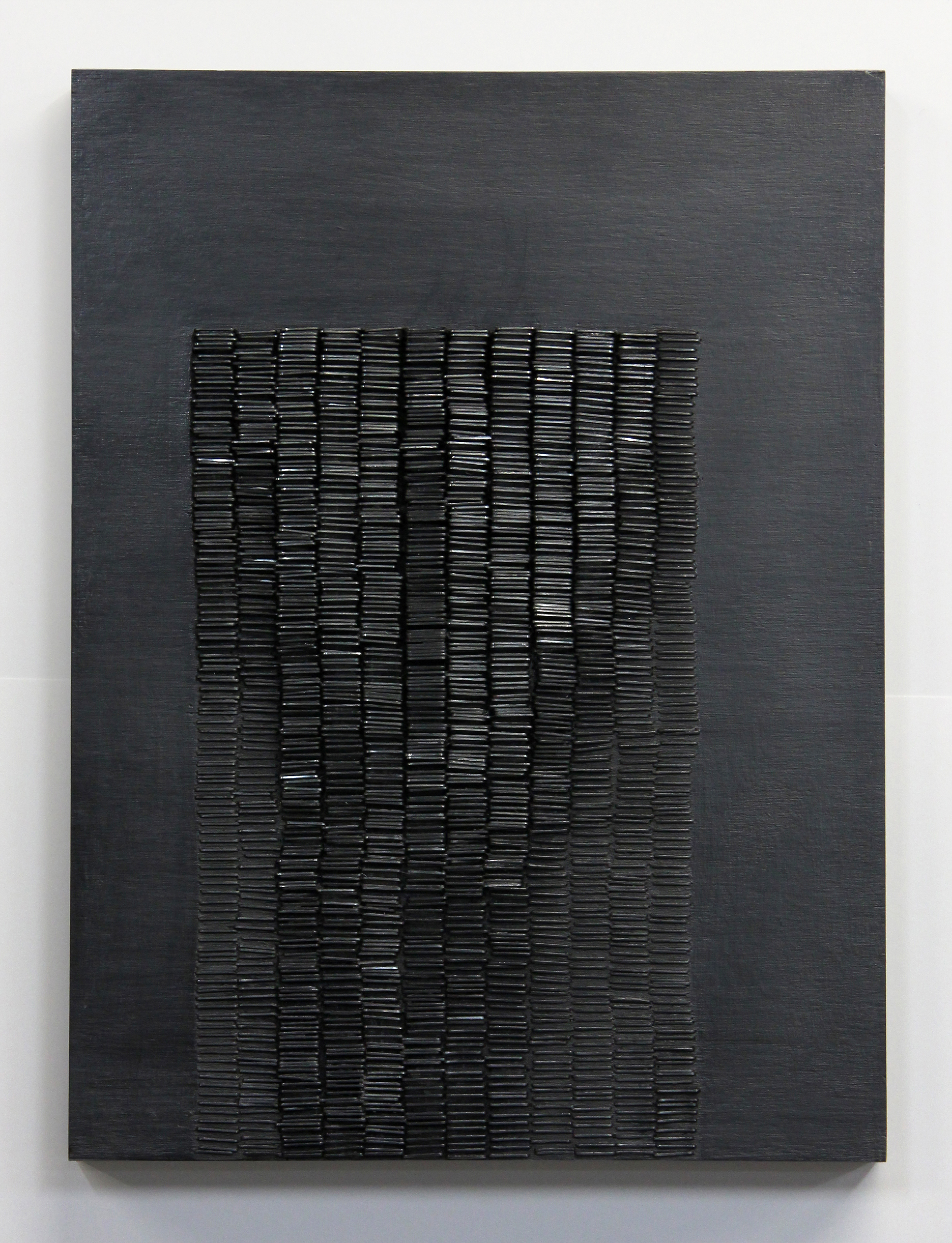 Double Touch No. 3  , Acrylic, Graphite, Staples on Panel, 2016