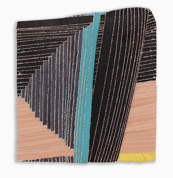 Neptune Diplomat  , acrylic paint on torn canvas, 2018