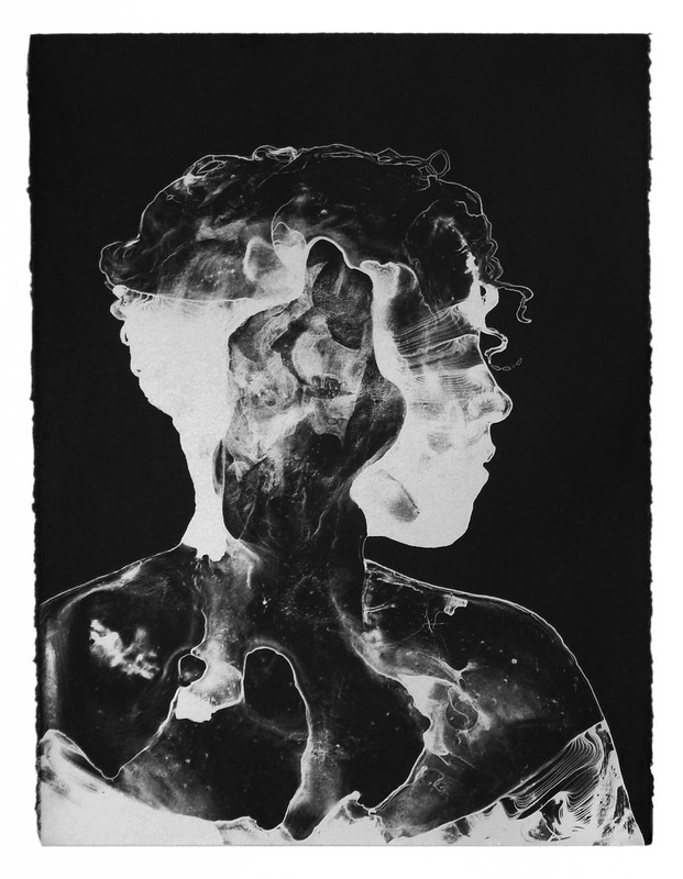 Dark Matter (Universal Body 1)  , Two-color lithograph (silver on black), collaborating printer Frank Janzen, edition of 20, 2016
