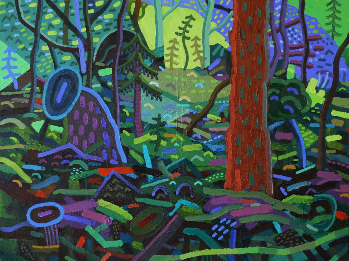 Through the Glade  , oil on canvas, 2017