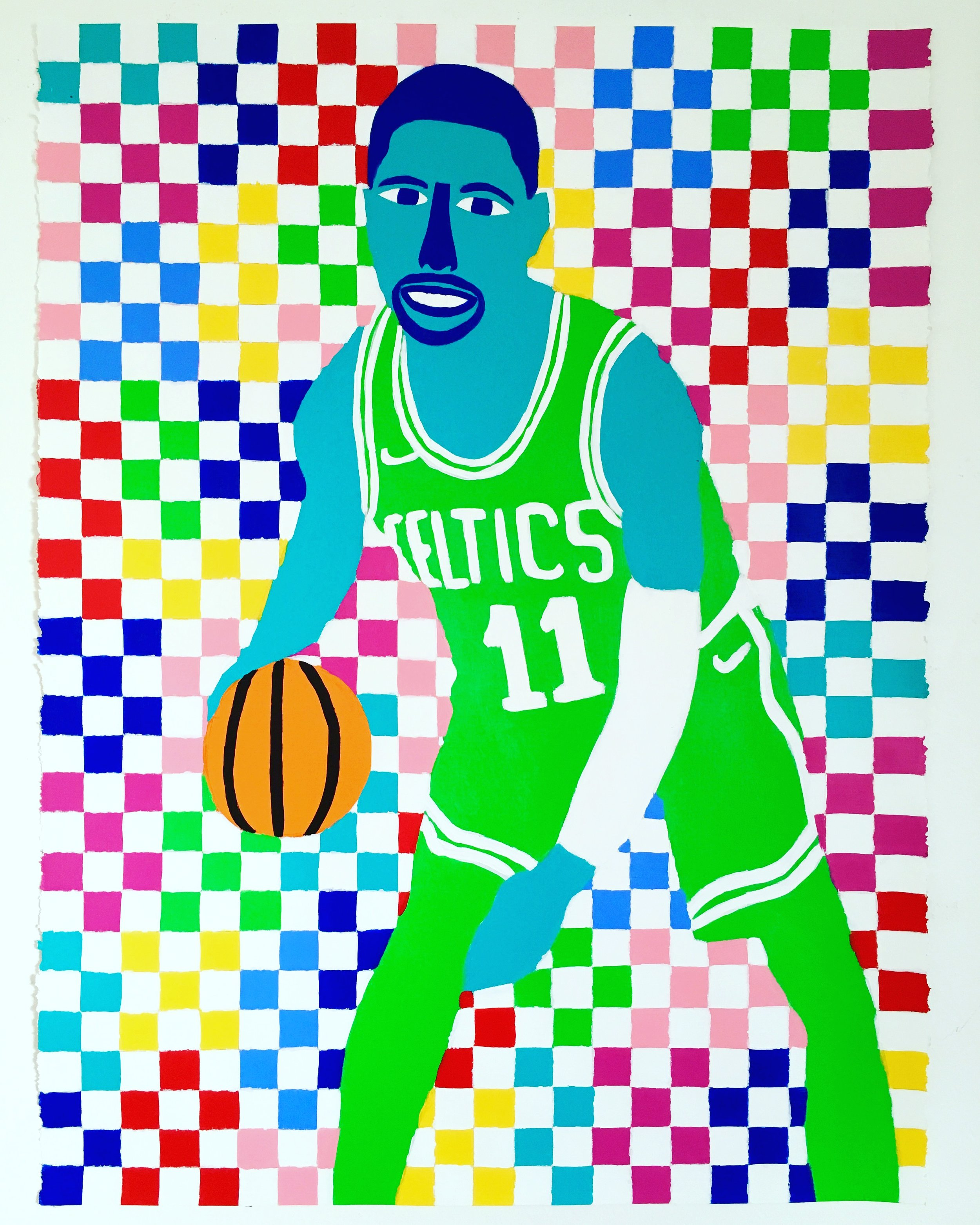 Kyrie  , paint on paper, 2017