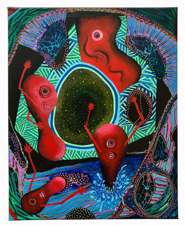 Cosmic Flood  , Acrylic and Oil on canvas, 2018