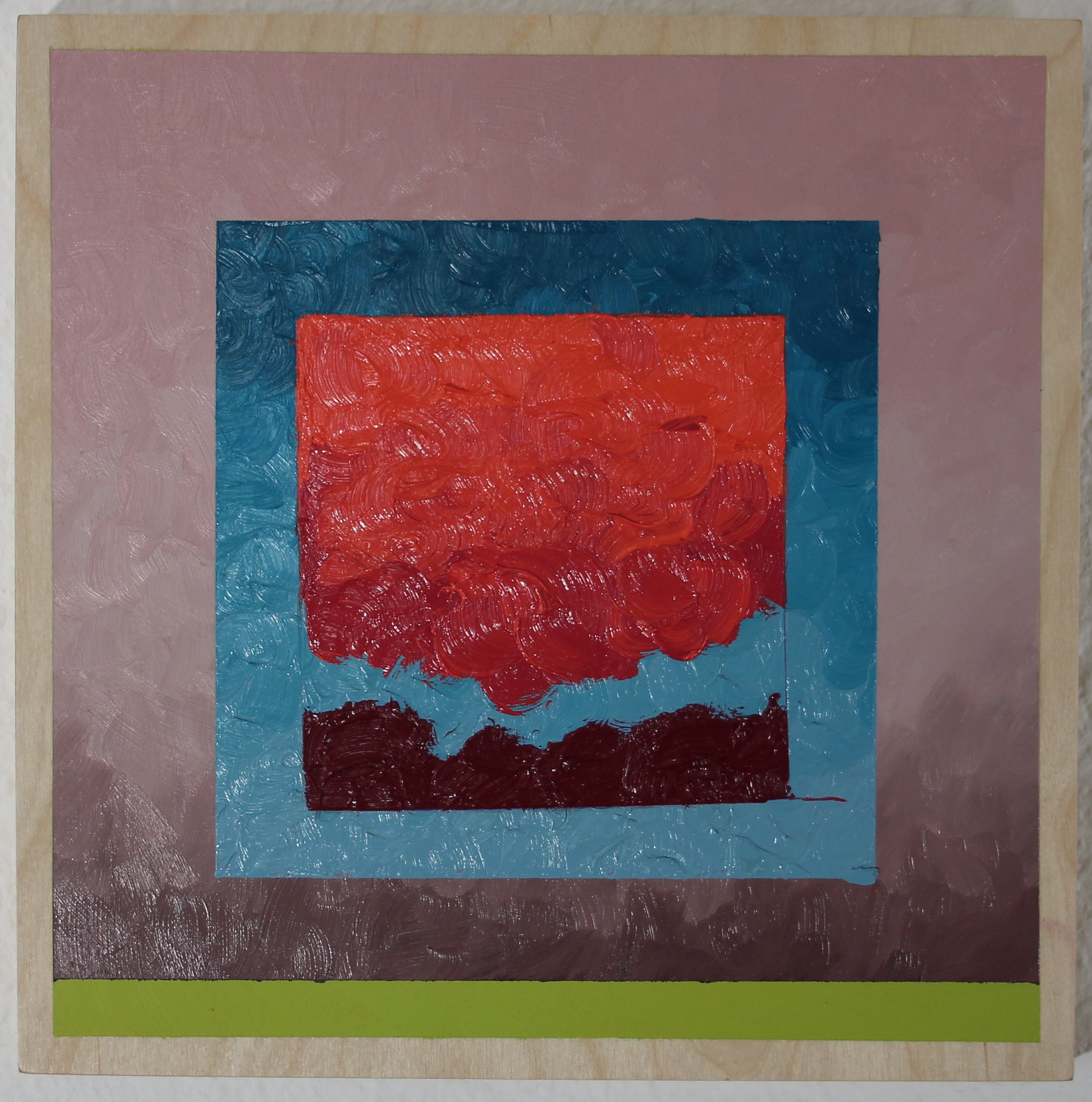 Astronomical Twilight  , oil on panel, 2019