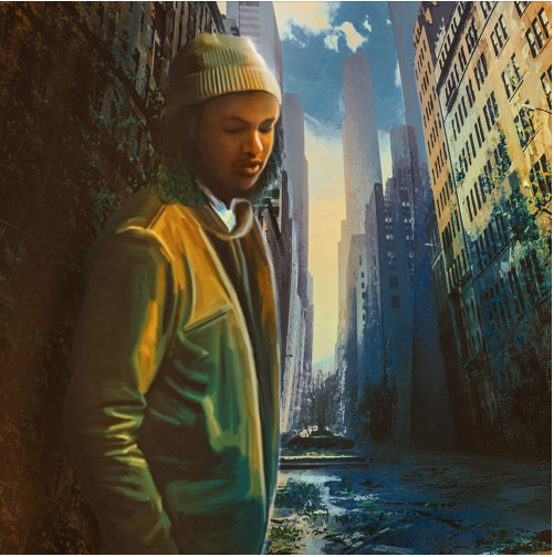 "Above is the cover art of BLVC SVND's album "" CITY BOY ""."