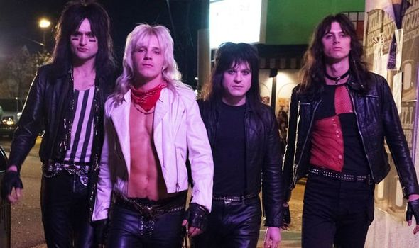 "A photo from the Biopic '""Dirt"" about the band Motley Crue."