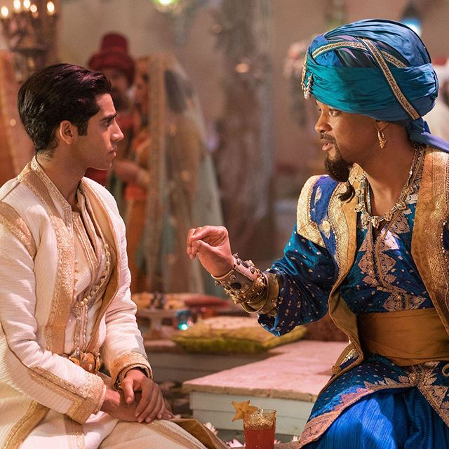 "Did you catch our most recent review of Aladdin? 🧞‍♂️✨ TBH, we thought the movie was kind of a big fat ""MEH."" 🐒 Did you like Aladdin, yes or no? 