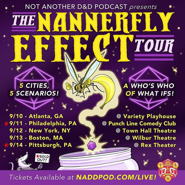 Tix are still available for our shows in Atlanta, New York and Boston! Come watch us replay some of the wildest moments from the campaign, including The Frostwind Assassination and The Berry Incident! 👉Naddpod.com/Live👈