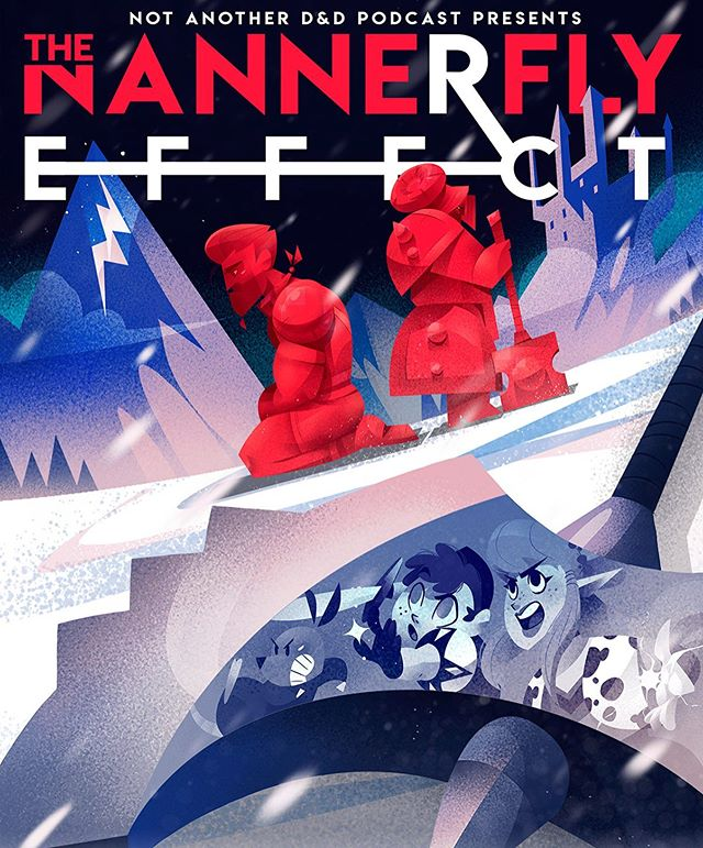 One last poster for our Nannerfly Effect tour designed by the amazing @laserlazuli! Only four days till the tour begins! See y'all soon!