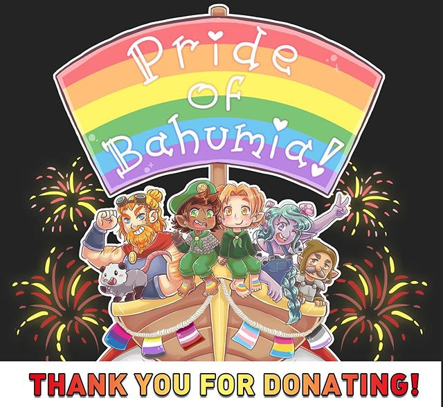 Big thanks to all the naddpoles that bought a Pride of Bahumia tee. With your help we were able to donate $2034 to the Trevor Project! Callooh Callay!