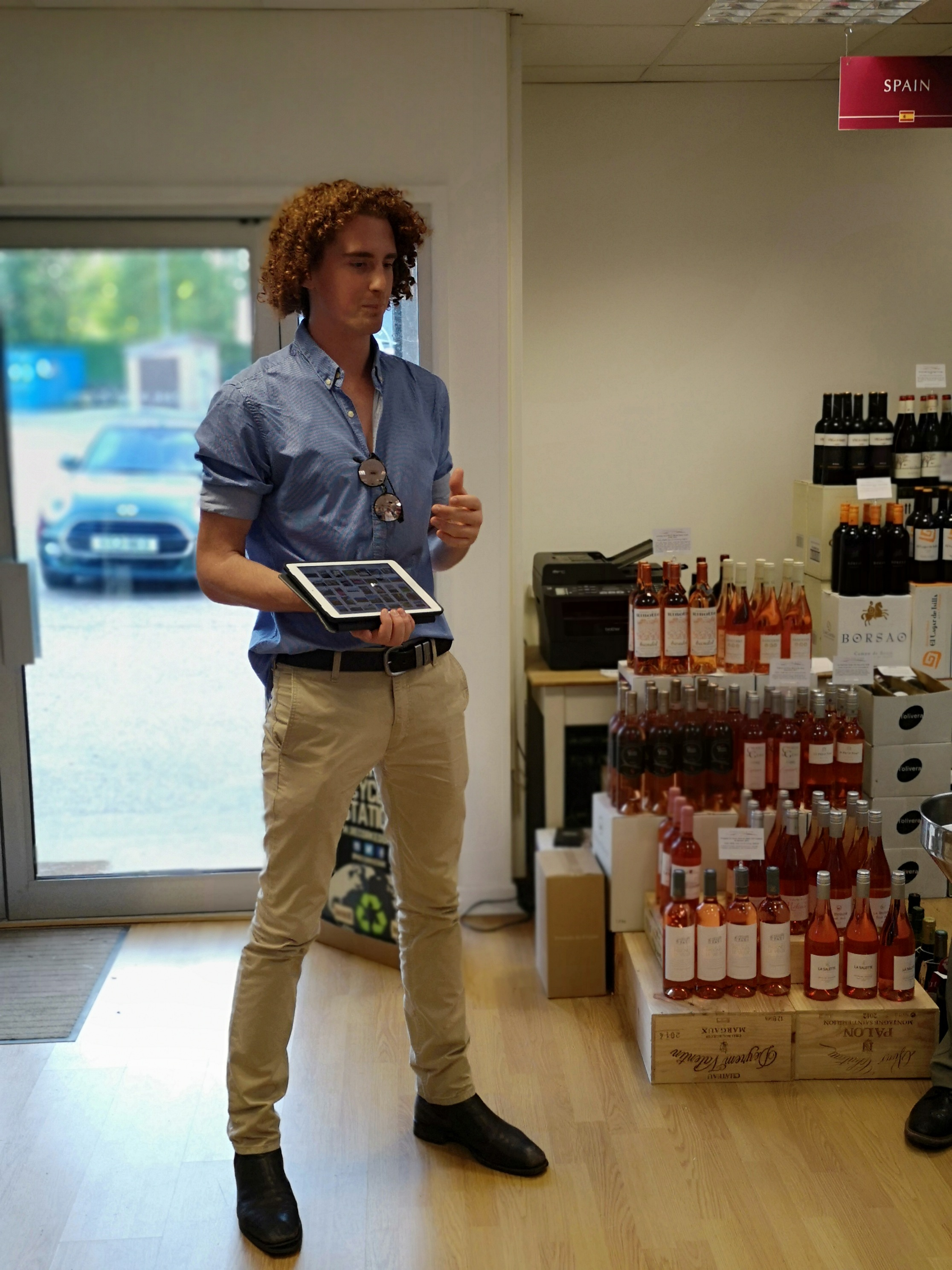 Charlie presenting an in-store tasting in the UK