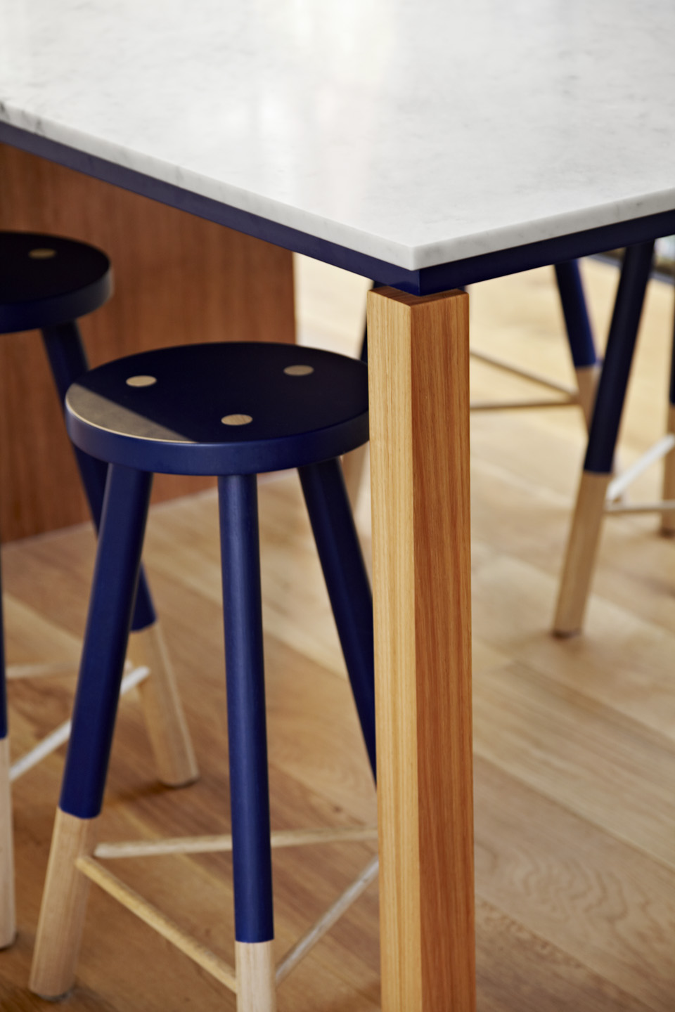 \Kitchen Detail. Custom stools to match joinery