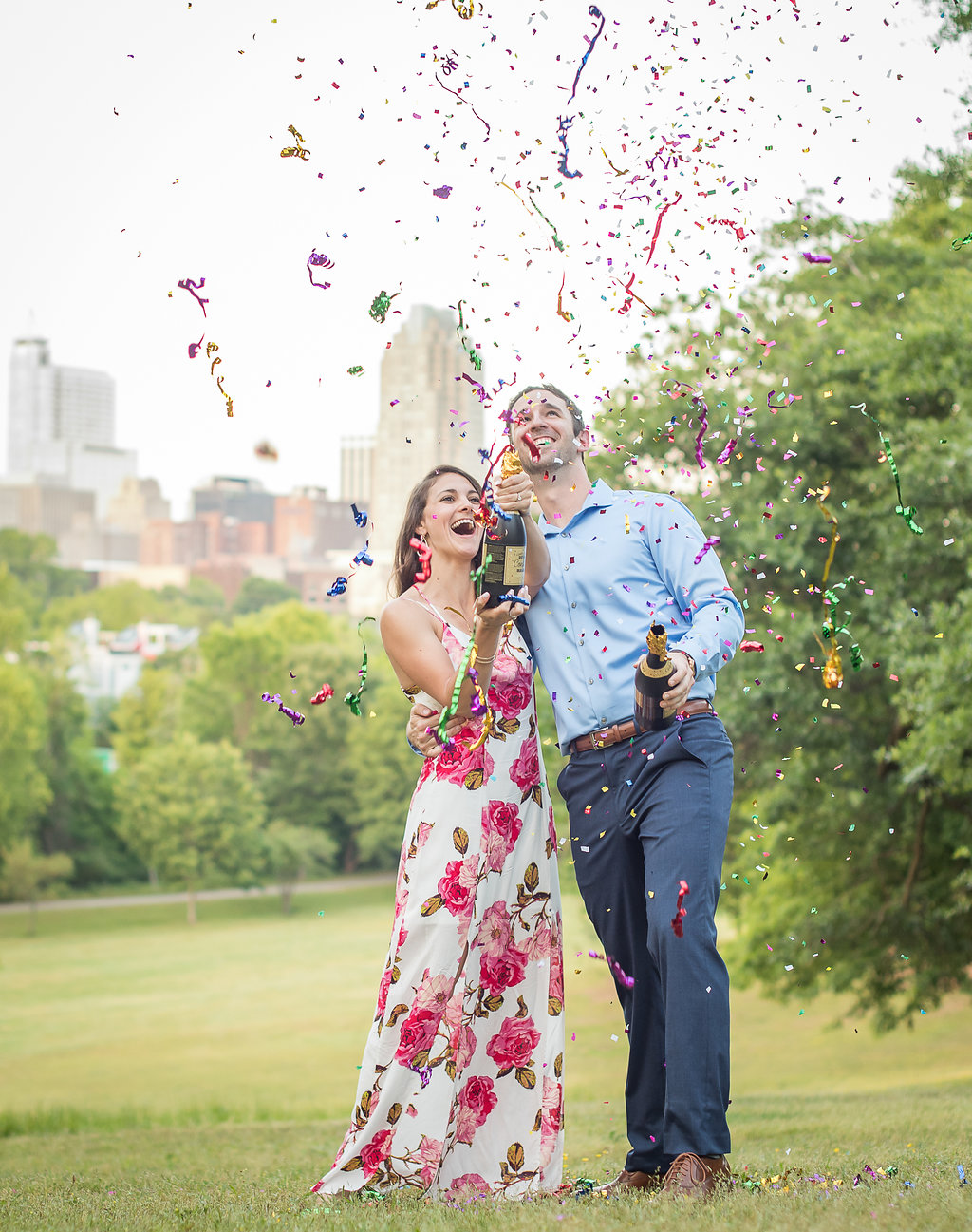 Confetti Engagement Photos in Raleigh NC.jpg