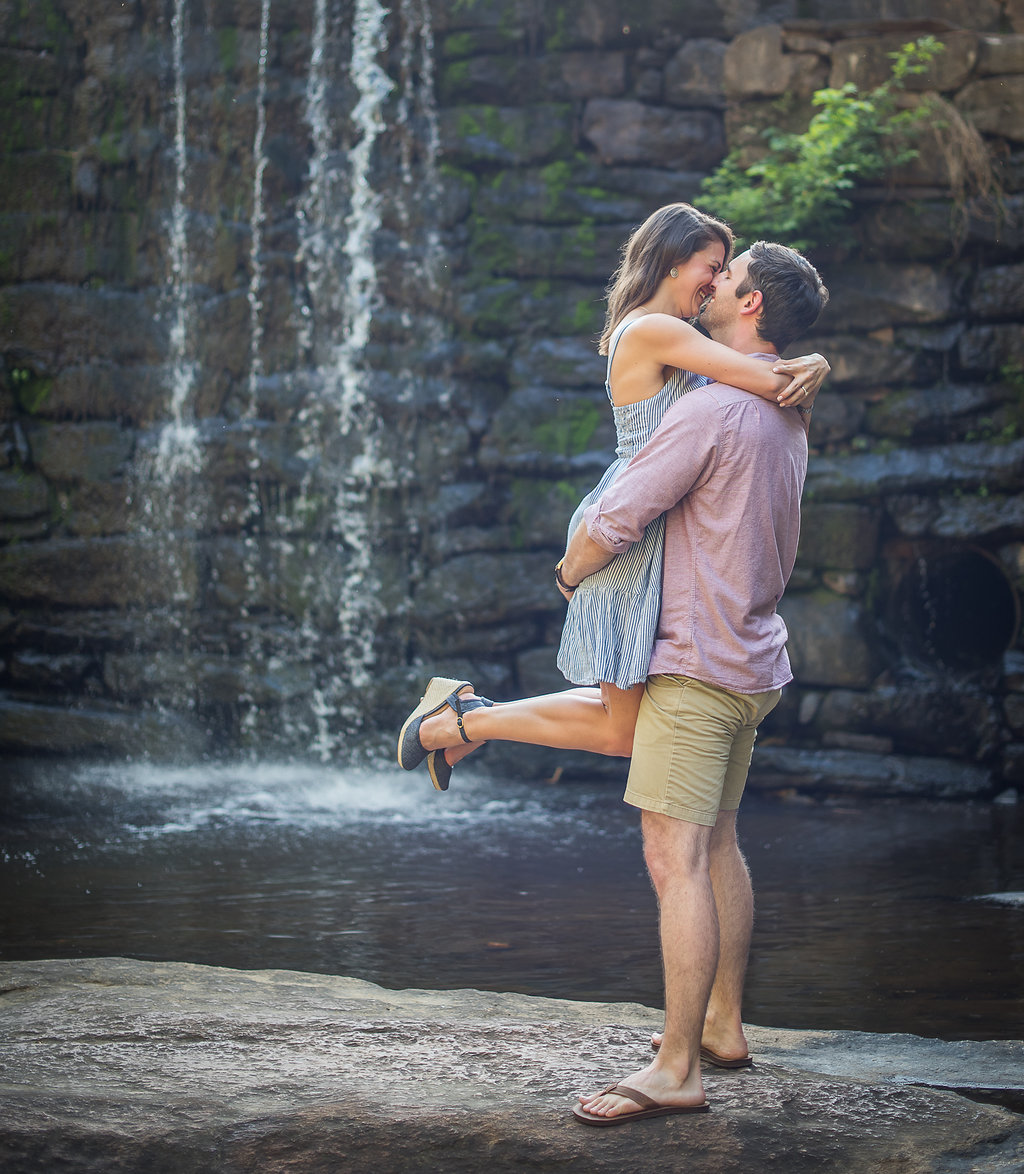 Waterfall Engagement Photos in Raleigh NC.jpg