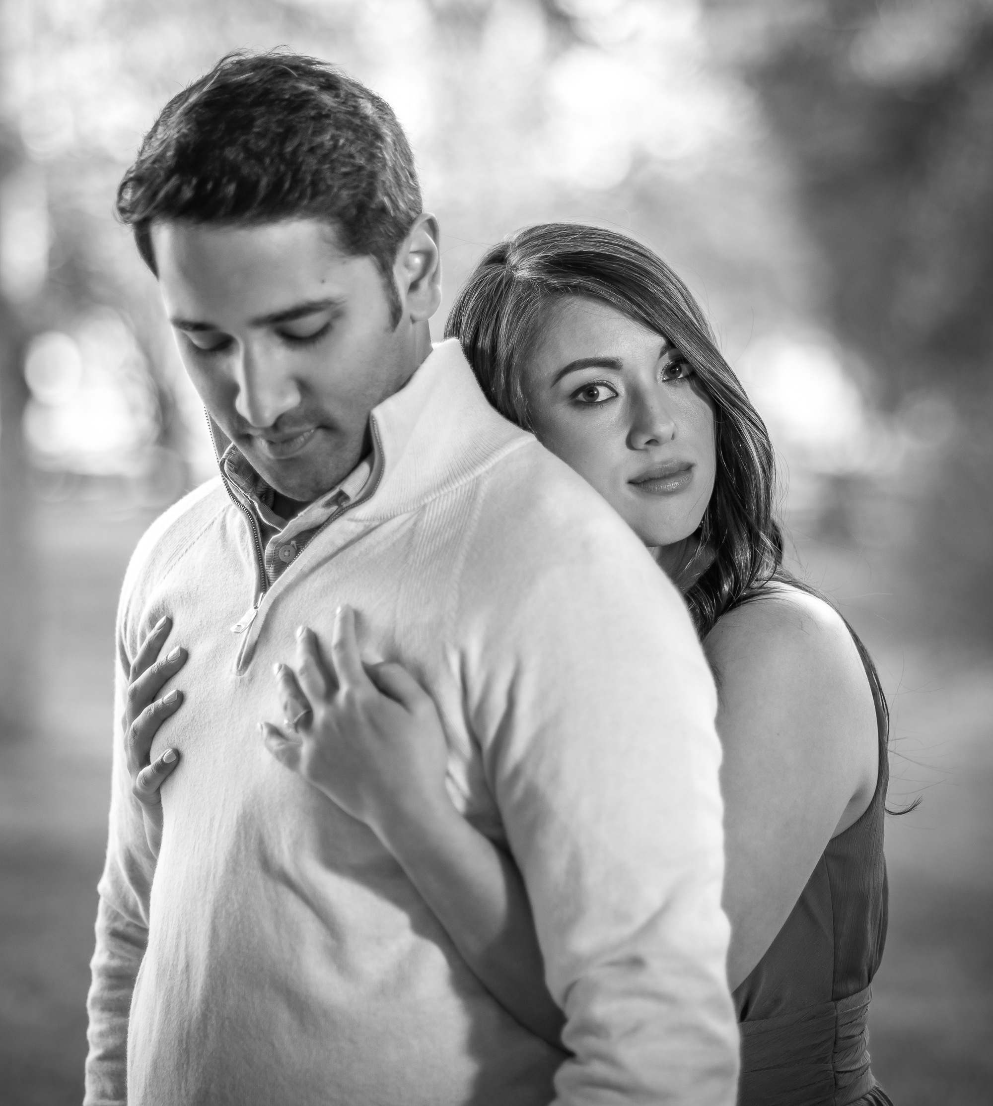 Black and White Engagement Photos in Raleigh NC.jpg